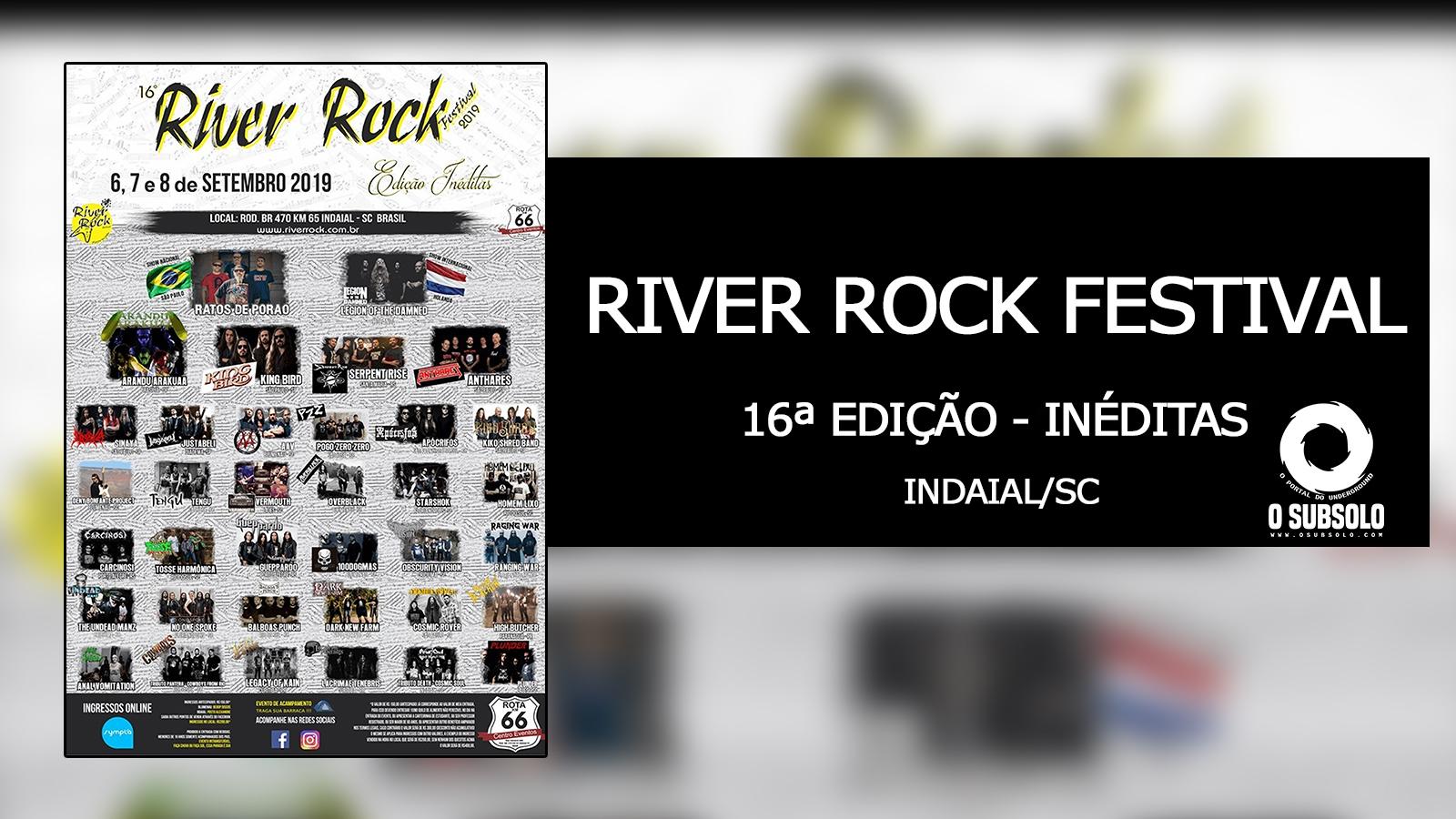 RIVER ROCK FESTIVAL 2019 - INÉDITAS