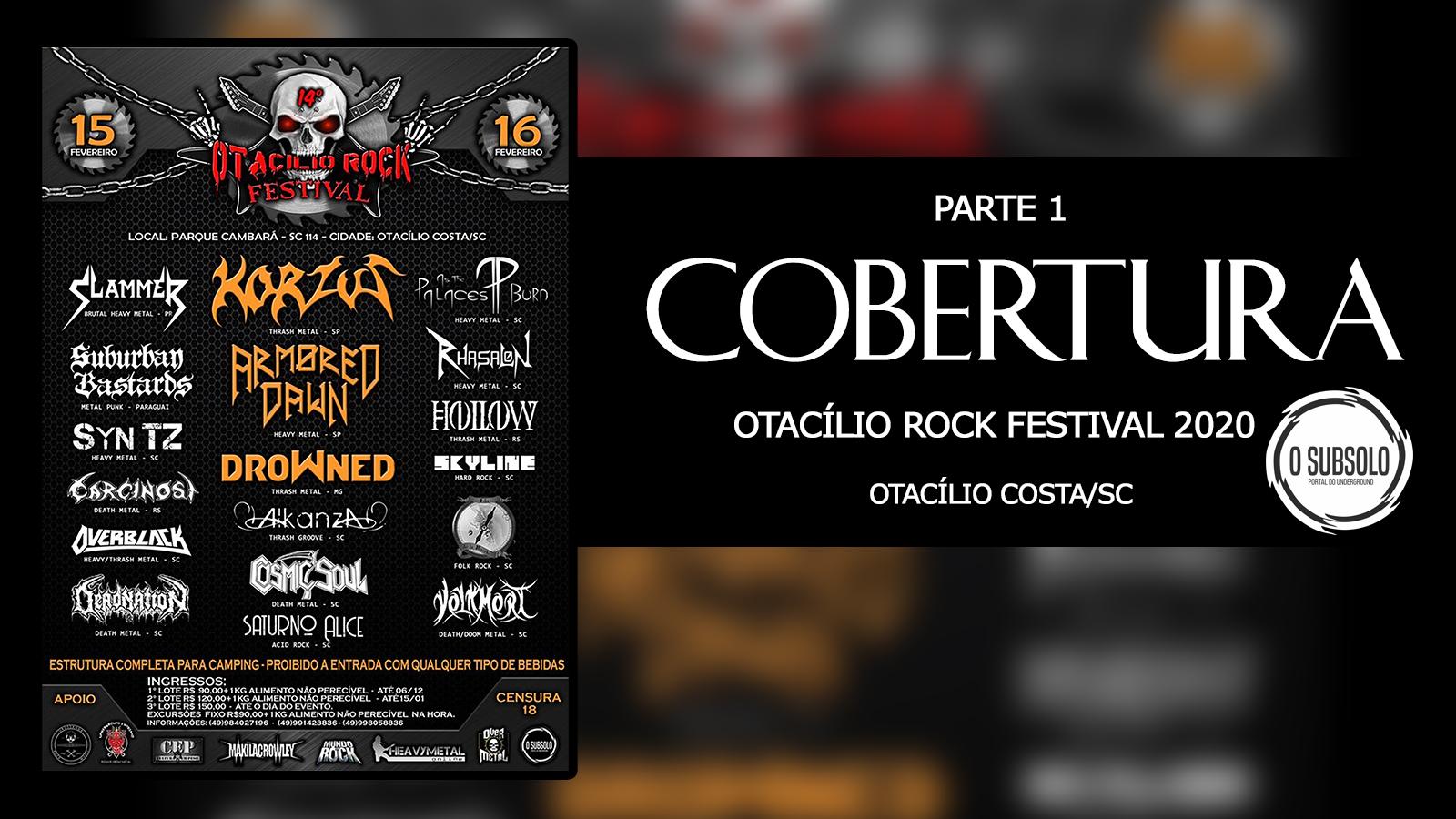 O SUBSOLO   COBERTURA   14º OTACÍLIO ROCK FESTIVAL 2020
